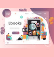 ebooks website landing page design template vector image vector image