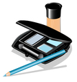 eye shadow concealer vector image