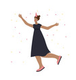 festive party celebration dance girl vector image vector image