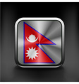 Flag Nepal state symbol icon vector image vector image