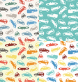 Four seamless car pattern vector image vector image