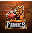 foxes esport mascot logo design vector image vector image