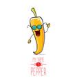 funny cartoon orange pepper character vector image