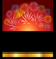 group of different festive fireworks vector image vector image