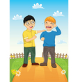 Kid Consoling Friend vector image vector image
