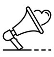 like megaphone icon outline style vector image vector image