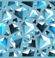 low poly gem diamond seamless pattern vector image vector image