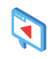 media marketing isometric vector image vector image