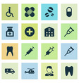 medicine icons set collection of retreat vector image vector image