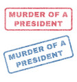 murder of a president textile stamps vector image vector image