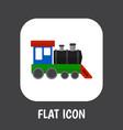 of vehicle symbol on train vector image