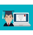 online education design vector image vector image