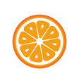 orange fruit slice closeup icon round piece of vector image