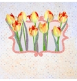 Paper beautiful tulips with polka dot EPS 10 vector image vector image