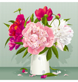 red peony bouquet vector image vector image