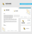rocket business letterhead envelope and visiting vector image vector image