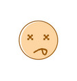 sad cartoon face negative people emotion icon vector image vector image