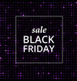 sale shining banner black friday lable vector image vector image