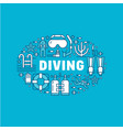 scuba diving snorkeling banner vector image vector image