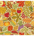 Seamless pattern with tree leaves vector image