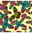 Seamless pattern with vintage colorful butterfly vector image vector image