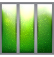 Set of blurry green vibrant banners vector image vector image