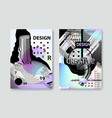 set of covers templates with bauhaus vector image