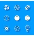 Set of white sports icons vector image
