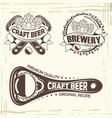 set three beer badge vector image
