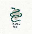 snake and skull abstract sign symbol or vector image vector image