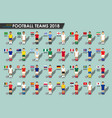soccer cup teams 2018 set football players vector image