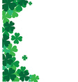 St Patricks corner border with shamrock vector image vector image