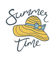 summer time hat vector image vector image