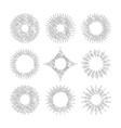 sunburst round frames vector image