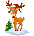 Sweet Christmas deer vector image