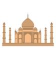 Taj-mahal temple flat vector image vector image