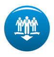 teamwork icon blue vector image vector image