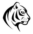 Tiger head symbol vector image vector image