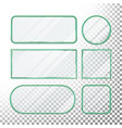 transparent glass buttons glass plates vector image vector image