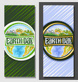 vertical banners for earth day vector image