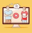 video tutorial webinar online education vector image vector image