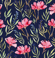 Watercolor seamless flowers pattern vector image vector image