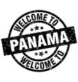 Welcome to panama black stamp vector image