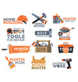 work tool house repair and construction icons vector image vector image