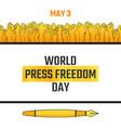 world press freedom day may 3 vector image vector image