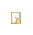Touch screen computer symbol vector image