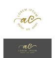 a c initials monogram logo design dry brush vector image vector image