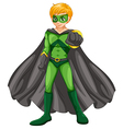A handsome superhero vector image