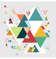 Abstract geometric background triangle mosaic vector image