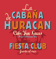 baja california sur cabana beach music bar vector image